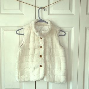 Faux Fur Satin Lined Vest by Hanna Andersson